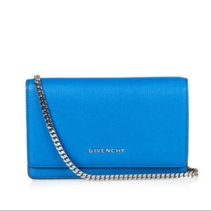 Givenchy Handbags - Givenchy Electric Blue Pandora Wallet on Chain