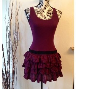 Superdry Dresses & Skirts - Ruffled rib tank dress.