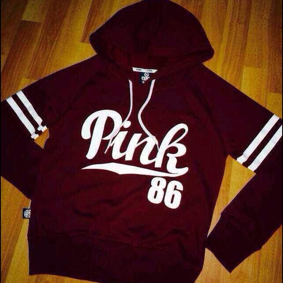 42% off PINK Victoria's Secret Sweaters - pink maroon hoodie from ...