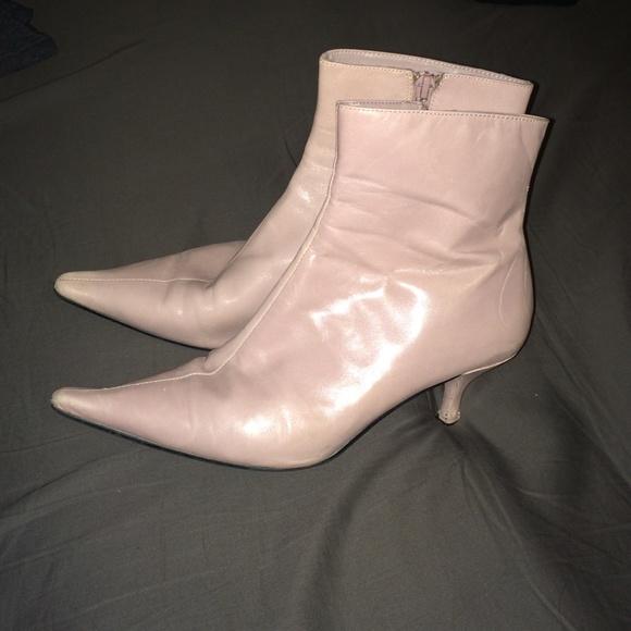 Pink Leather Boots W Kitten Heel | Poshmark