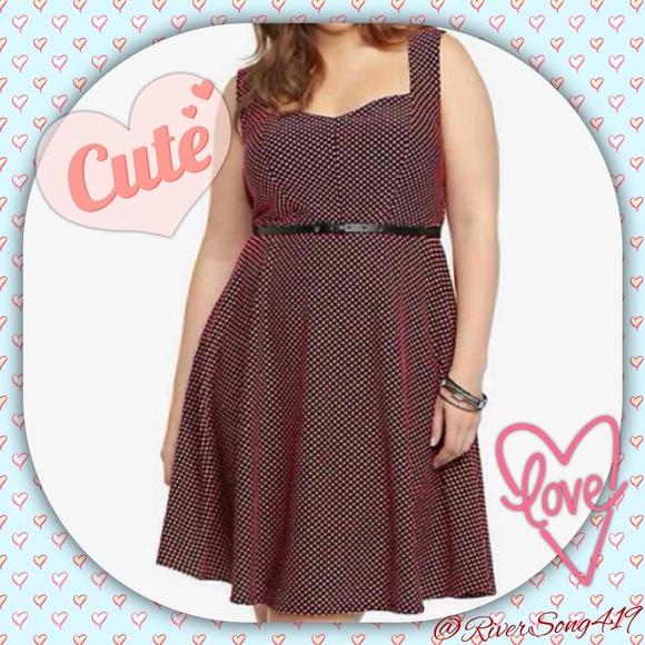 torrid Dresses & Skirts | Polka Dot Swing Dress
