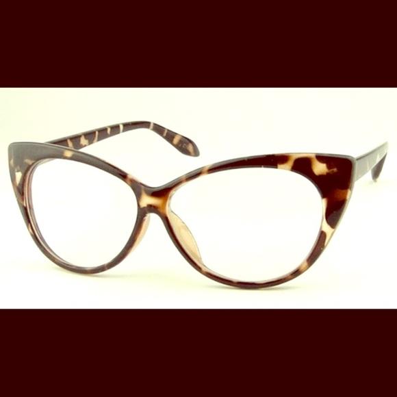 ThinkVintageOnline Accessories | Leopard Print Vintage Look Cat Eye ...