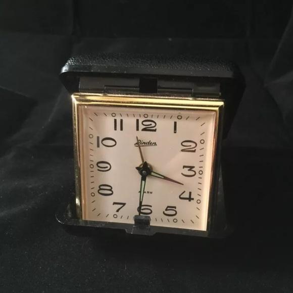 Accessories Vintage Linden Wind Up Travel Alarm Clock Case Poshmark