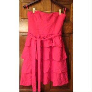 Cynthia Steffe Dresses & Skirts - 🎉SALE🎉Pink Scallop Hem Strapless Dress