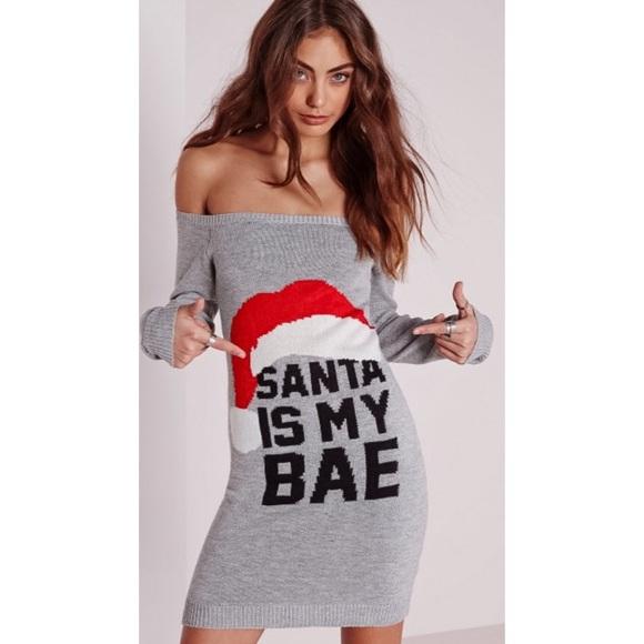 54f440b5b9ab3 Missguided Sweaters   Santa Is My Bae Sweater Dress   Poshmark