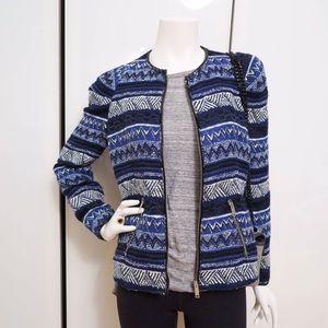 Zara blue embroidered jacket M