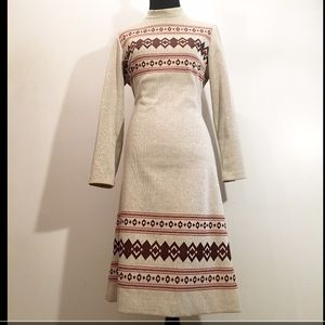 True Vintage 1960's NoveltyPrint Sweater Dress