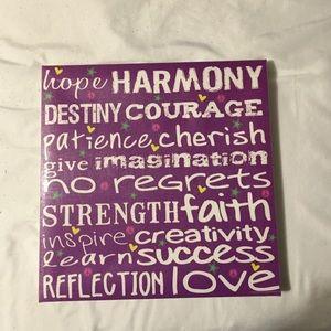 Purple Picture Wall Decor