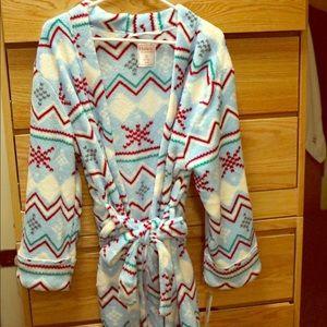Hanes bathrobe.