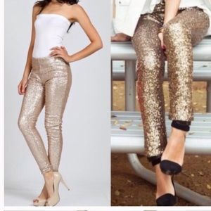 NEW❤️Gorgeous Gold Sequin Sparkle Leggings❤️