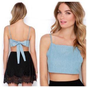 0988cc15033 Lulu s Tops - Lulu s Light Blue Tie Back Crop Top ...