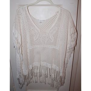 Willow & clay knit poncho