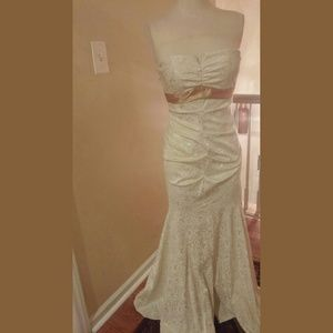 Beige Mermaid Dress