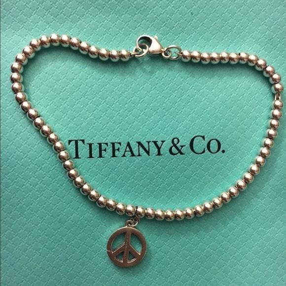 e460e6226d5b6 Tiffany & Co. Peace Sign Bead Bracelet