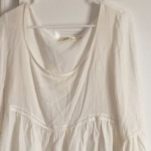 Tops - White peasant blouse size medium