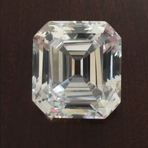 Jewelry - CZ replica 33mm x 30mm Asscher and one cz 20x15mm