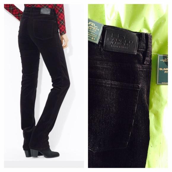 6b0280266 Ralph Lauren Pants | Lrl Lauren Black Corduroy Slim Fit Classic ...