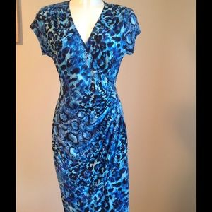 Gorgeous! Cache' blue Python print dress - NWT
