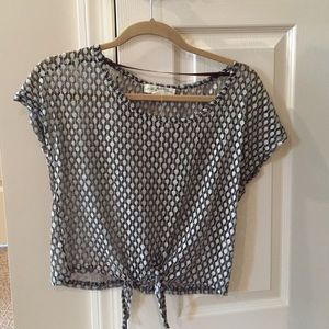 Urban outfitters sheer crop top