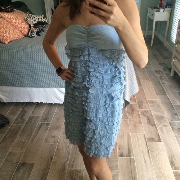 J. Crew Dresses - Blue ruffled sundress
