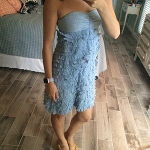 Blue ruffled sundress