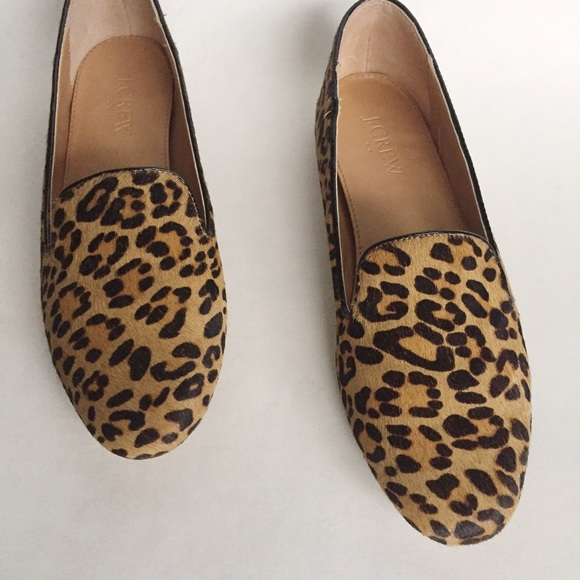 75 Off J Crew Shoes Jcrew Leopard Calf Hair Loafers