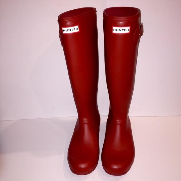 33% off Hunter Boots Shoes - Hunter Original Tall Matte Red Rain ...