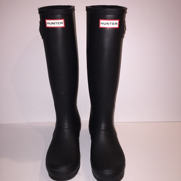 40% off Hunter Shoes - Hunter Original Tall Matte Black Rain Boots ...