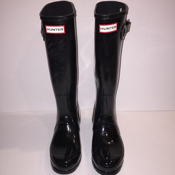 33% off Hunter Boots Shoes - Hunter Original Tall Gloss Black Rain ...