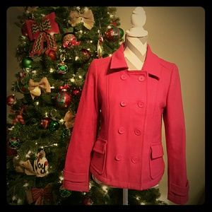 Old Navy Jackets & Blazers - 🎉HP🎉 {Old Navy, Small} Pretty Pink Pea Coat