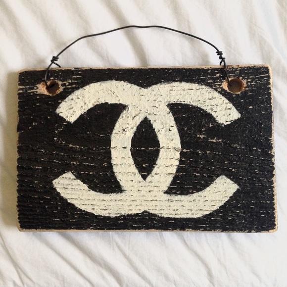 4b04819c Brandy Melville Accessories - Brandy Melville Chanel Wooden Sign