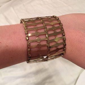 Anthropologie gold cuff bracelet
