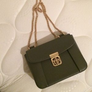 Handbags - Gray mini cross body gold hardware
