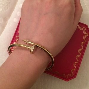 Jewelry - Gold plated screw bangle bracelet love nail