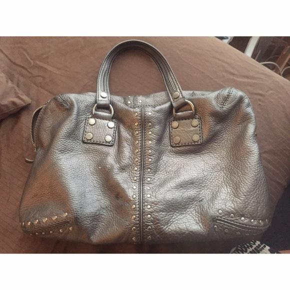 85% off Michael Kors Handbags - Grey Michael Kors Satchel Bag ...