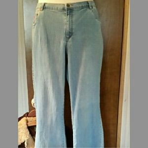 Plus size Natural fit blue jeans, slightly flared