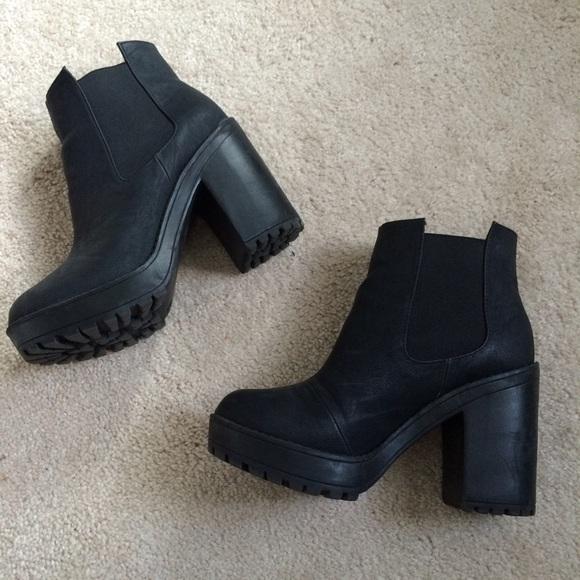 H\u0026M Shoes   Hm Black Platform Ankle