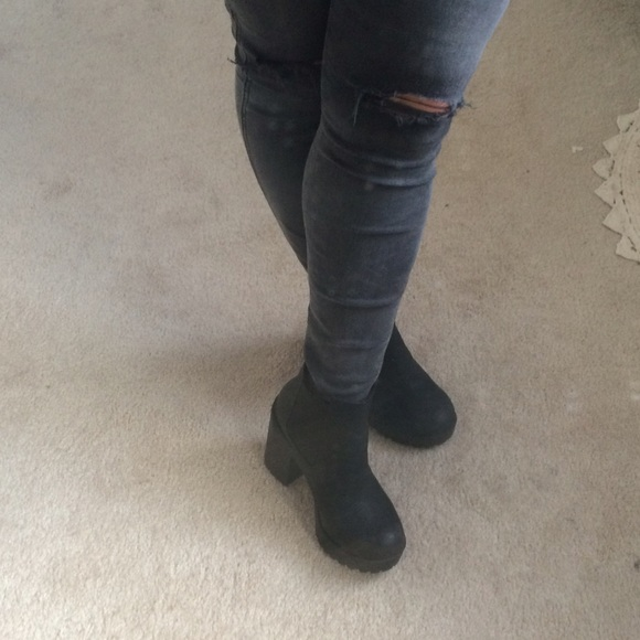 h m h m black platform ankle boots from zoe s closet on
