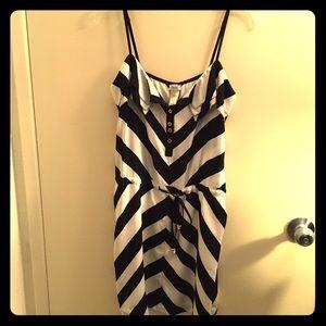 Cache navy/white chevron print dress