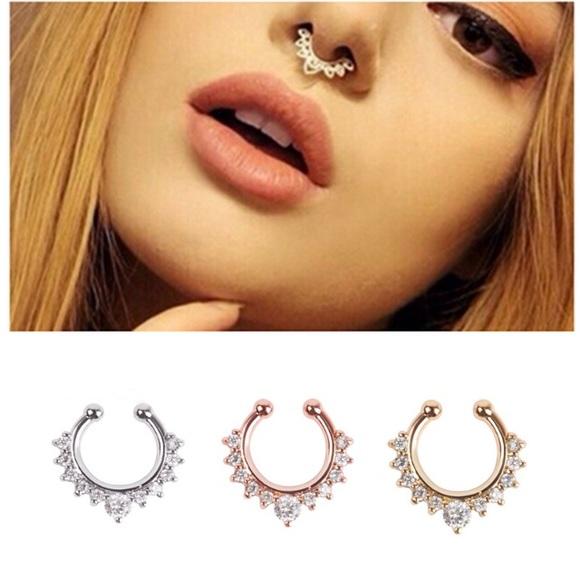 Jewelry Fake Septum Nose Ring Rose Gold Boho Poshmark