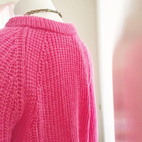 Zara Sweaters - Zara Fuzzy Pink Knit Sweater
