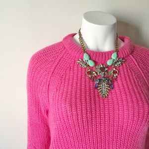 Zara Sweaters - Zara Fuzzy Pink Knit Sweater