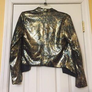 Gold sequinned blazer