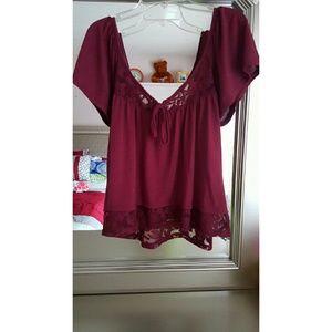 cute elligant blouse majenta