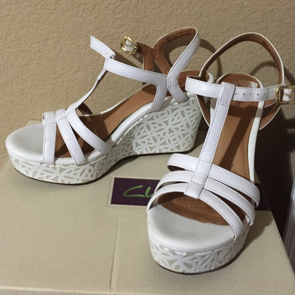6fcc5e41cf06 Clarks Shoes - Clarks White Wedges