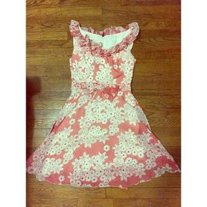 Vintage floral dress - red and white