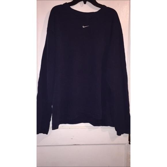 3ae526ee Nike Tops | Navy Blue Long Sleeve Shirt | Poshmark
