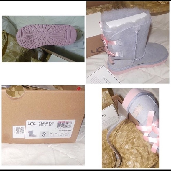 Bailey Bow Purple and Pink uggs