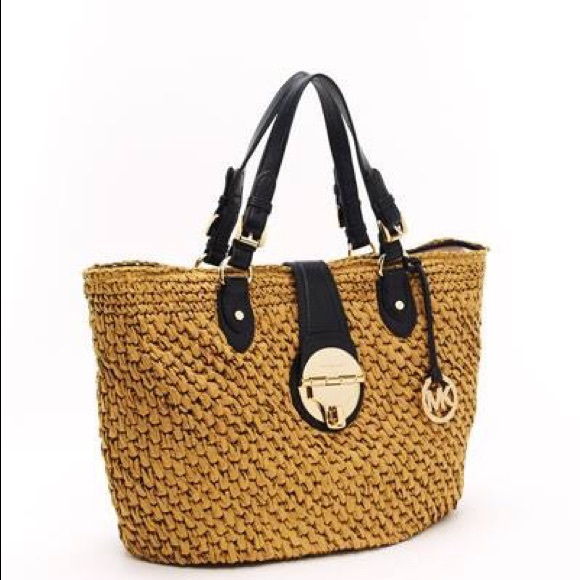 Michael Kors- Margo Straw Basket Bag,