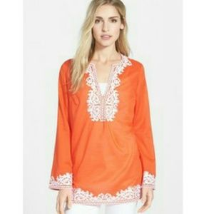 MICHAEL Michael Kors Tops - Michael Kors embroidered tunic in orange